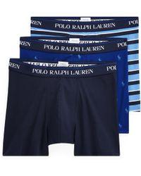 Polo Ralph Lauren Lot de 3 slips boxers - Bleu