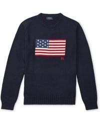 Polo Ralph Lauren Le pull au drapeau emblématique - Neutre