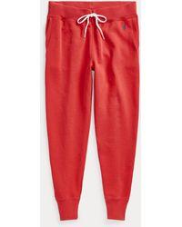 Polo Ralph Lauren Pantalón De Chándal De Felpa - Rojo