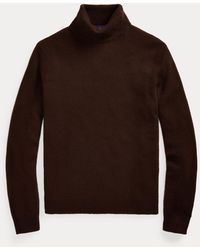 Ralph Lauren Purple Label Cashmere Roll Neck Jumper - Brown