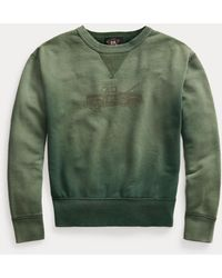 RRL French Terry Graphic Sweatshirt - Green