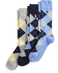 Ralph Lauren Argyle Slack 3-pack - Blue