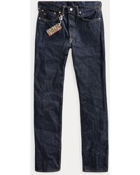 RRL Jeans con cimosa Straight-Fit - Blu