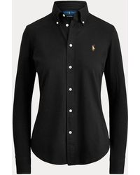 Ralph Lauren Cotton Knit Oxford Shirt - Black