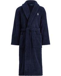 Polo Ralph Lauren Bademantel mit Schalkragen - Blau