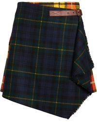 Ralph Lauren Plaid Pleated Wrap Skirt - Multicolor