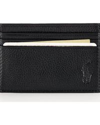 Polo Ralph Lauren Porte-cartes en cuir chagrin - Noir