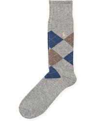 Polo Ralph Lauren - Argyle Wool-blend Socks - Lyst