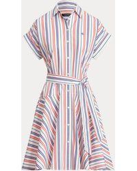 Ralph Lauren - Gestreiftes Hemdkleid aus Baumwolle - Lyst
