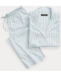 Ralph Lauren Pigiama in misto cotone a righe - Blu