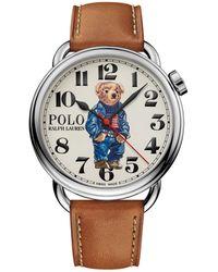 Polo Ralph Lauren 42 Mm Bedford Polo Bear Watch - White