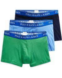 Polo Ralph Lauren Lot de 3 slips boxers coton stretch - Bleu