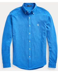 Ralph Lauren Camisa De Piqué Ultraligera - Azul