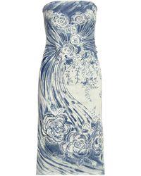 Ralph Lauren Ralph Lauren Katlynn Embellished Linen Cocktail Dress - Multicolor