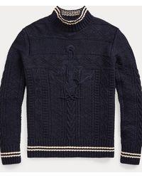 Polo Ralph Lauren Handbestickter Pullover - Blau