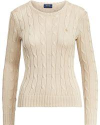 Polo Ralph Lauren - Pull en coton torsadé - Lyst
