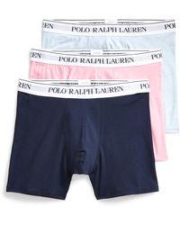 Polo Ralph Lauren Lot de trois slips boxers en coton - Bleu
