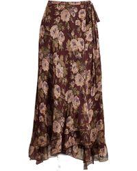 Polo Ralph Lauren - Floral Silk Skirt - Lyst