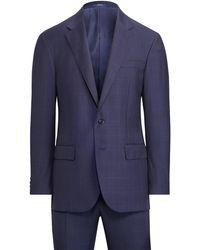 Polo Ralph Lauren Polo Windowpane Twill Suit - Blue