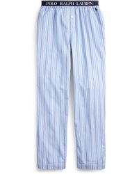 Polo Ralph Lauren Schlafhose aus Baumwolljersey - Blau