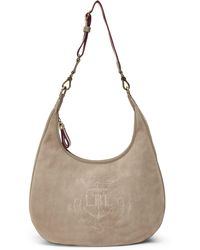 452f8767659 Lyst - Ralph Lauren Metallic Woven Nappa Hobo in Metallic