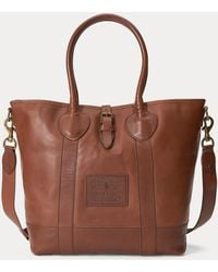Polo Ralph Lauren Leather Tote Bag - Brown