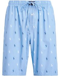 Ralph Lauren Signature Pony Pajama Short - Blue