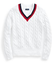 Polo Ralph Lauren Embroidered Cricket Sweater - White