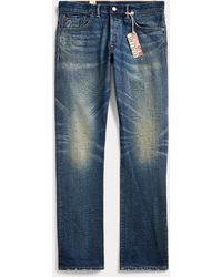 RRL Jeans dritti con cimosa - Blu