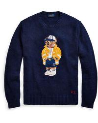 Ralph Lauren Cp-93 Polo Bear Sweater - Blue