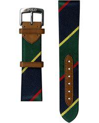 Ralph Lauren Striped Silk Watch Strap - Green