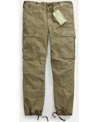 RRL Pantalon cargo en popeline de coton - Vert