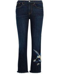 Polo Ralph Lauren | Chrystie Kick Flare Crop Jean | Lyst