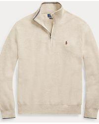 Polo Ralph Lauren Pullover mit Viertelreißverschluss - Natur