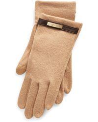 Ralph Lauren Wool-blend Tech Gloves - Natural