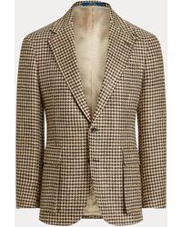 Polo Ralph Lauren Chaqueta Rl67 De Tweed Con Pata De Gallo - Marrón