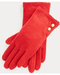 Ralph Lauren Two-button Tech Gloves - Red
