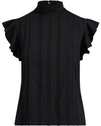 Polo Ralph Lauren - Lace-embroidered Cotton Top - Lyst