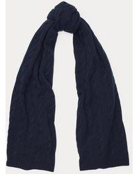 Ralph Lauren Écharpe en cachemire torsadé - Bleu
