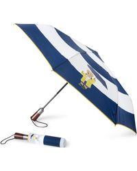 Ralph Lauren Raincoat Bear Collapsible Umbrella - Blue
