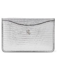 Ralph Lauren Slim Leather Card Case - Metallic