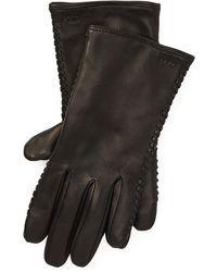 Polo Ralph Lauren Stitched Sheepskin Gloves - Black