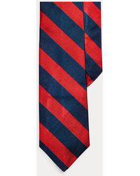 Polo Ralph Lauren - Cravatta sottile in reps di seta a righe - Lyst