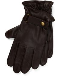 Polo Ralph Lauren Gants tactiles en cuir nappa