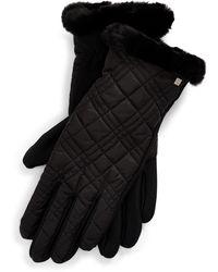 Ralph Lauren Fleece-lined Quilted Gloves - Black
