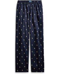 Polo Ralph Lauren Allover Pony Sleep Pant - Blue