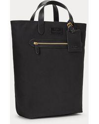Polo Ralph Lauren Leather-trim Canvas Convertible Tote - Black