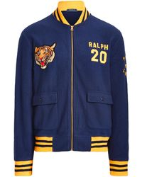 Polo Ralph Lauren Ralph Lauren Polo Tiger Fleece Bomber Jacket - Blue