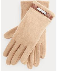 Ralph Lauren Wool-blend Tech Gloves - Natural