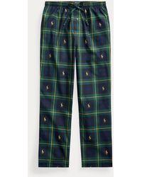 Polo Ralph Lauren Pantalón De Pijama De Punto Jersey - Azul